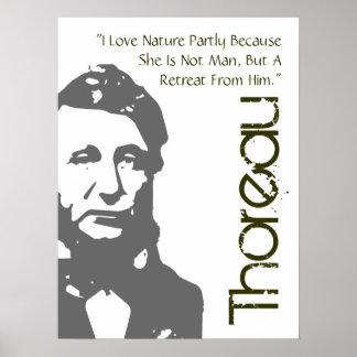 Un retratamiento del poster de Thoreau del hombre