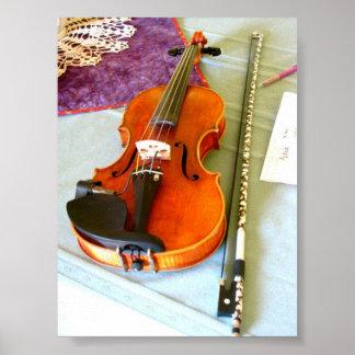 Un retrato del violín del DePue del maestro Impresiones
