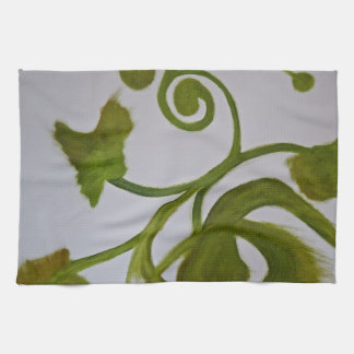 Un retrato en verde toalla de cocina