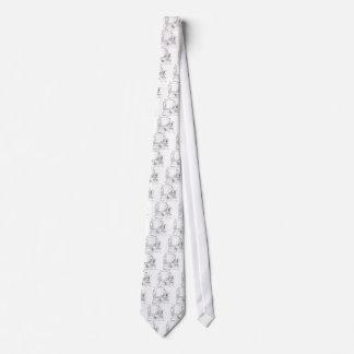 Un retrete desconcertado por una grieta del extrem corbata personalizada