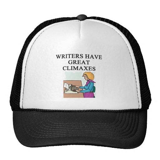 un retruécano para los escritores gorras