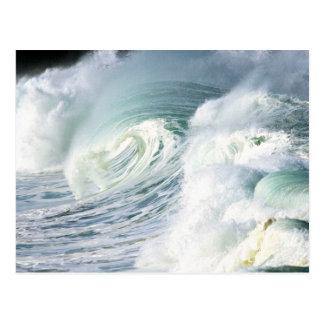Un revoltijo del caos del whitewater tarjetas postales