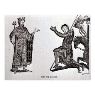 Un rey y un caballero postal