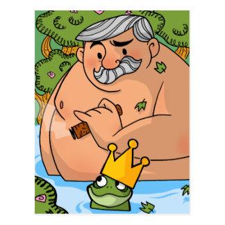 Un rey y una rana tarjetas postales