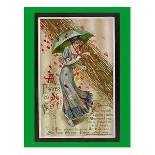 Un rezo a la postal de la tarjeta del día de San V