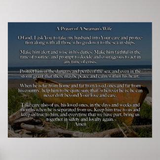 Un rezo de la esposa de un marinero póster
