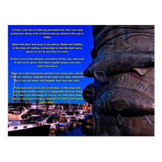Un rezo de la esposa de un marinero tarjetas postales