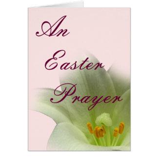 Un rezo de Pascua Felicitación
