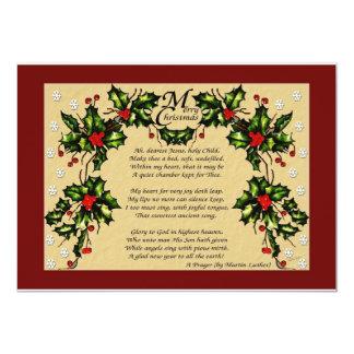"""Un rezo del navidad invitación 5"""" x 7"""""""