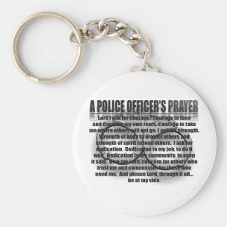 UN REZO DEL OFICIAL DE POLICÍA LLAVEROS PERSONALIZADOS