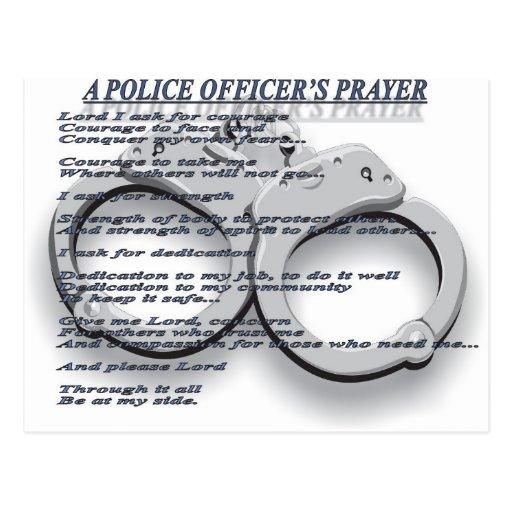 UN REZO DEL OFICIAL DE POLICÍA POSTALES