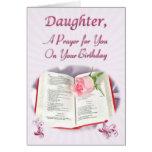 Un rezo para una hija en su cumpleaños tarjeton