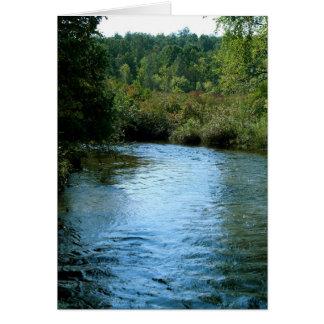 Un río corre a través de él tarjeta