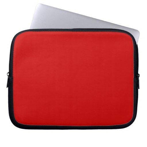 Un rojo de la manga del ordenador portátil del col fundas portátiles