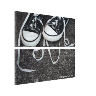 Un romance del zapato impresión en lona estirada