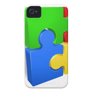 Un rompecabezas junta las piezas del ejemplo del funda para iPhone 4 de Case-Mate