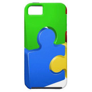 Un rompecabezas junta las piezas del ejemplo del funda para iPhone SE/5/5s