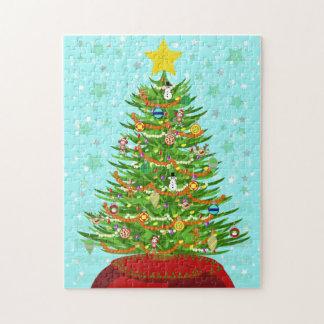 Un rompecabezas muy macabro del árbol de navidad