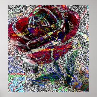 Un rosa es un color de rosa poster