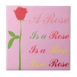 Un rosa es un color de rosa… Teja