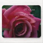 Un rosa es un Mousepad color de rosa Alfombrillas De Raton