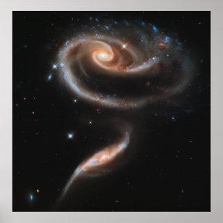Un rosa hecho de galaxias, ARP 273 [impresión] Póster
