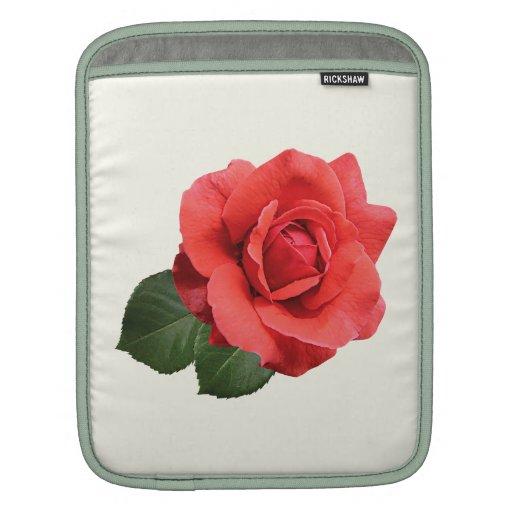 Un rosa rojo mangas de iPad