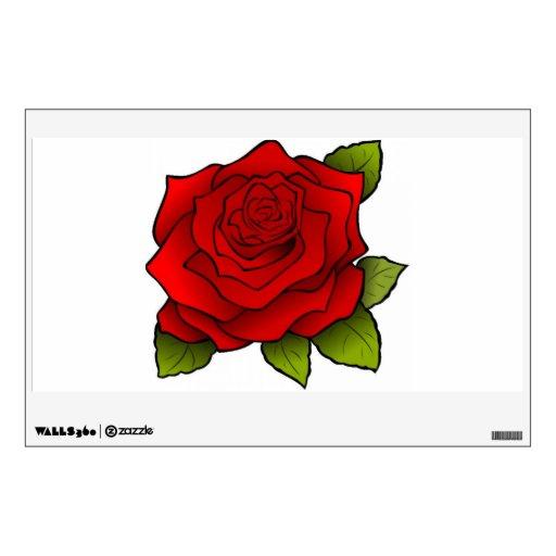 """""""Un rosa rojo, rojo """" Vinilo Adhesivo"""