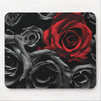Un rosa rojo tapetes de raton