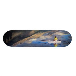 Un rower en el lago Banff en SR. de Canadá) Skateboards