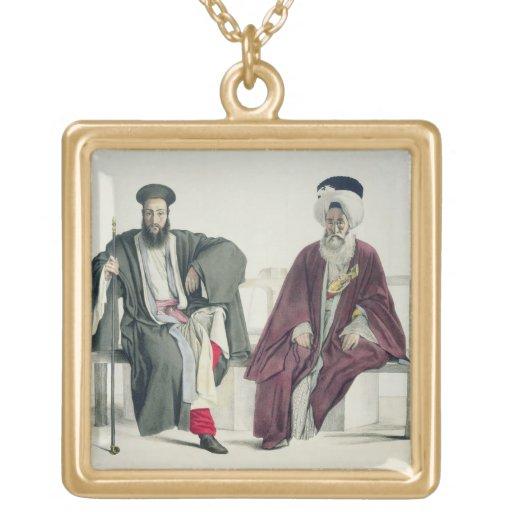 Un sacerdote griego y un turco, grabados por el Th Pendiente