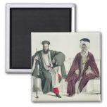 Un sacerdote griego y un turco, grabados por el Th Imán Cuadrado
