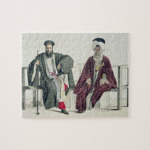 Un sacerdote griego y un turco, grabados por el Th Rompecabeza