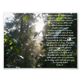 Un salmo de la alabanza. Tarjeta del cristiano del Fotografías