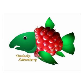 Un Salmonberry de Unalaska Tarjetas Postales