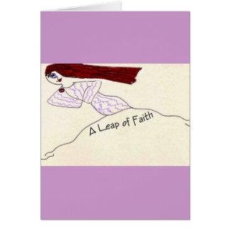 Un salto de la fe tarjeta