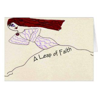 Un salto de la fe tarjetas