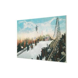 Un salto del torneo del esquí lona estirada galerías