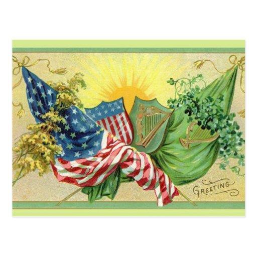 Un saludo irlandés tarjetas postales