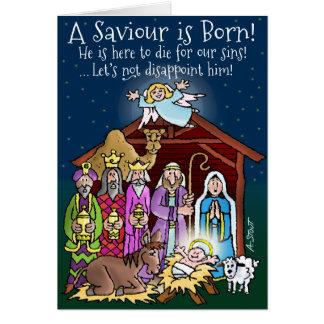 ¡Un salvador nace! Tarjeta De Felicitación