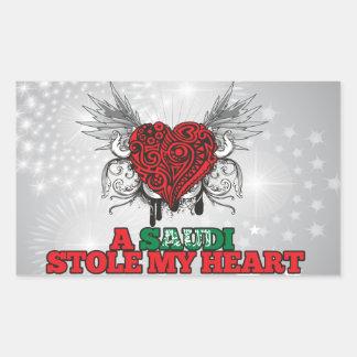 Un saudí robó mi corazón rectangular pegatinas