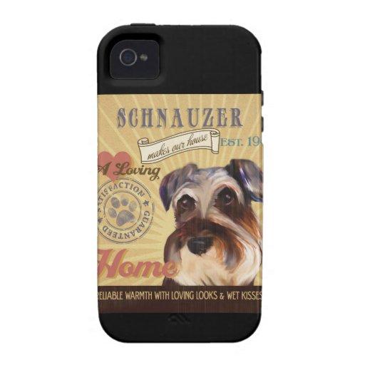 Un Schnauzer cariñoso hace nuestro hogar de la iPhone 4/4S Carcasas