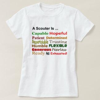Un Scouter es… camiseta de las señoras Playera