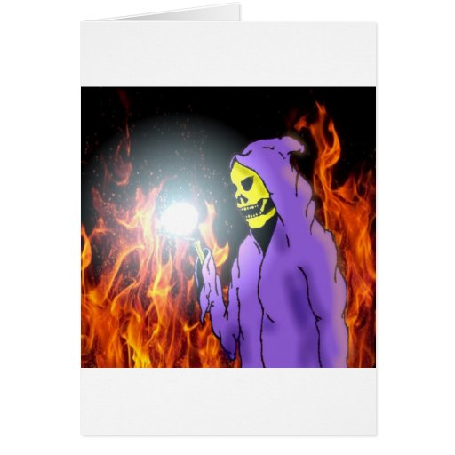 Un segador en infierno tarjeta de felicitación
