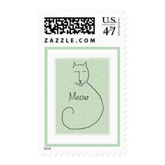 Un sello contento del gatito