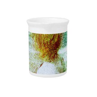 un semental blanco jarras