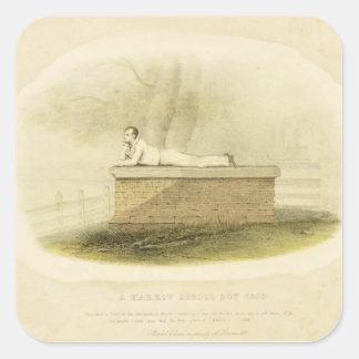Un señor Byron (1788-1824 del escolar de la grada Pegatina Cuadradas