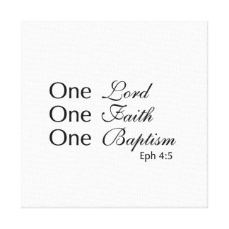 Un señor Faith Baptism Impresión En Lienzo Estirada