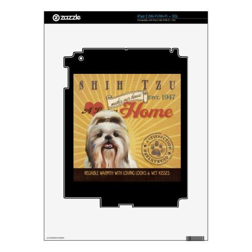 Un Shih cariñoso Tzu hace nuestro hogar de la casa Skins Para iPad 2