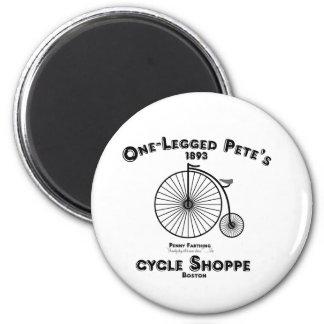 Un Shoppe del ciclo de Pete Legged, Boston Iman De Nevera